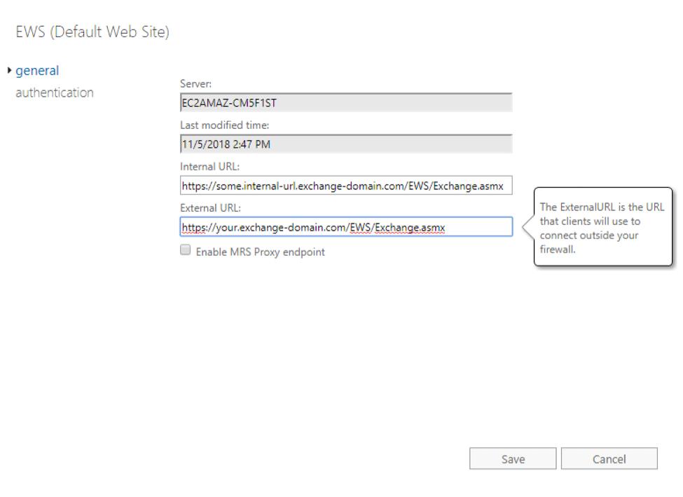 EWS Default Web Site